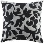 Throw Pillows Black & White Floral Accent Pillow